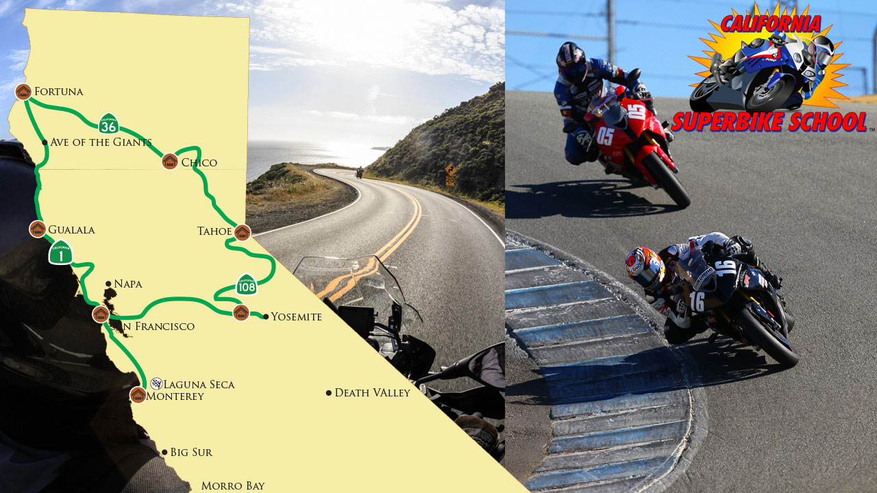 Motocyle Tour Photo for California Curves to Laguna Seca with California Superbike School